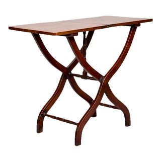 19th Century English Mahogany Folding Table For Sale