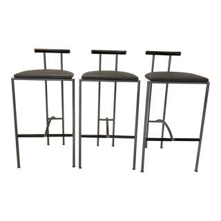 1990s Three Bieffeplast Bar Stools Italy 1990s - Set of 3 For Sale