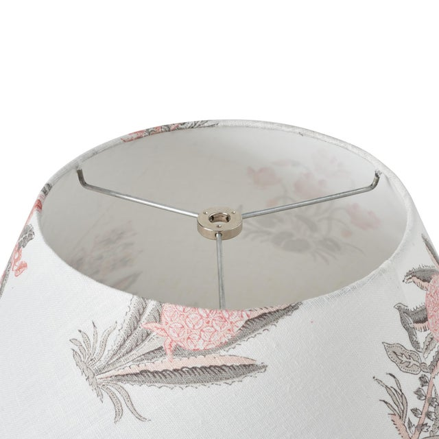 Schumacher Schumacher Bunny Linen Lampshade in Rose For Sale - Image 4 of 5