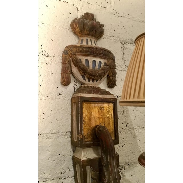 19th Century Painted French Wall Sconces - a Pair For Sale - Image 10 of 13