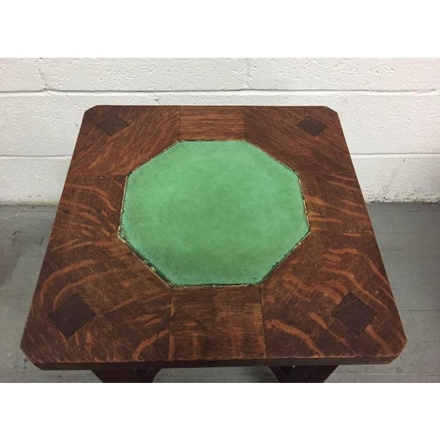 Arts & Crafts Rare Gustav Stickley Grueby Tile-Top Table For Sale - Image 3 of 8