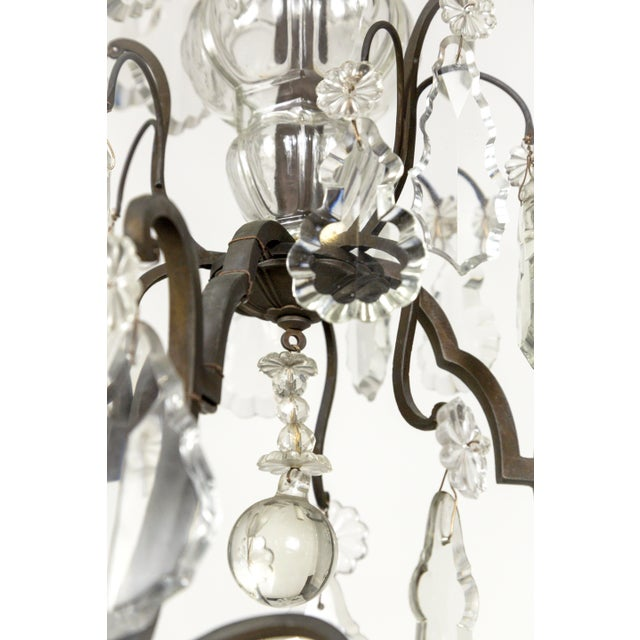Parisian Second Empire Style Darkened Brass Chandeliers - a Pair For Sale - Image 11 of 13
