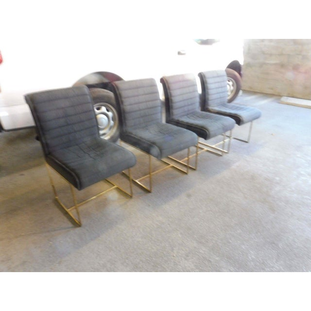 1970's Mid-Century Modern Milo Baughman Dining Chairs - Set of 4 For Sale In Miami - Image 6 of 13