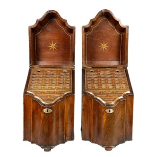 George III Mahogany Cutlery Boxes - a Pair For Sale