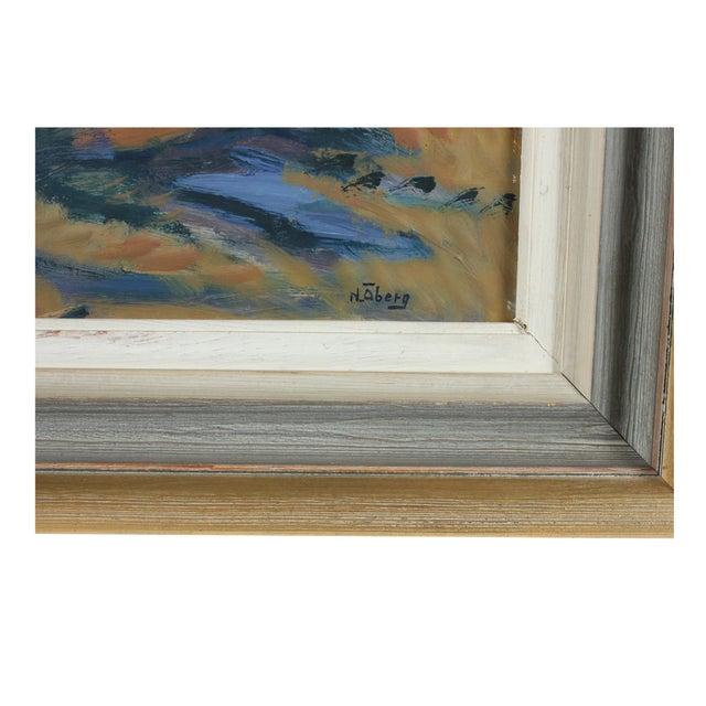 Framed Horsen Impressionist Oil Painting - Image 3 of 3