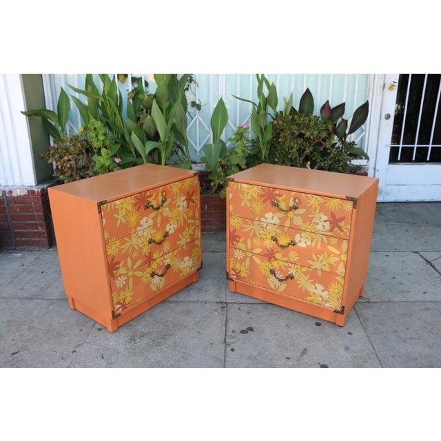 Retro Pair of Drexel Chests of Drawers For Sale - Image 9 of 10