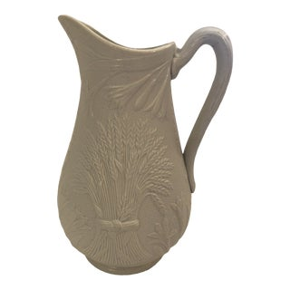 Early 20th Century Antique English Salt Glaze Pitcher For Sale
