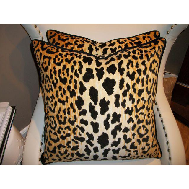 Leopardo Cotton Velvet Accent Pillows - A Pair - Image 3 of 5