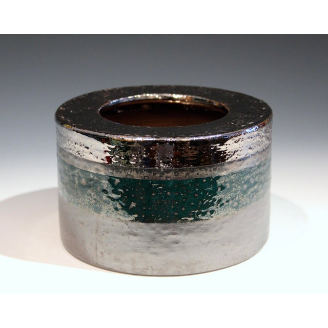 Vintage Bitossi Londi Raymor Metallic Vase For Sale - Image 11 of 11