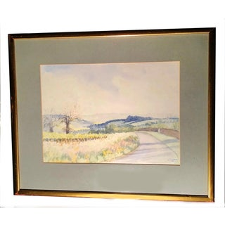 Traditional The Road to Dorothy's House Watercolor Painting With Gilted Frame Preview