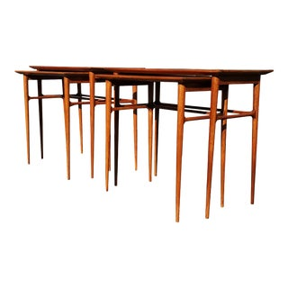 Mid-Century Modern Brazilian Nesting Tables - a Pair For Sale
