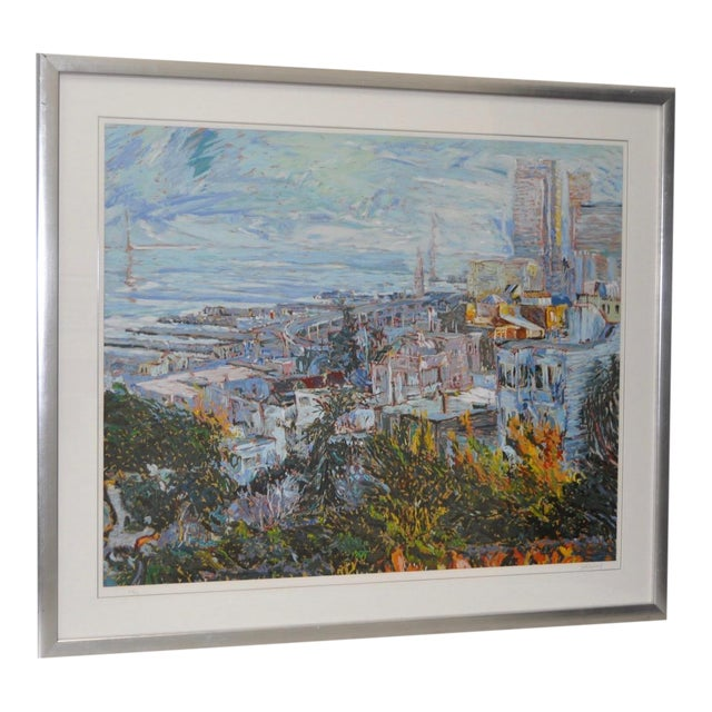 San Francisco from Telegraph Hill Serigraph by Marco Sassone - Image 1 of 6