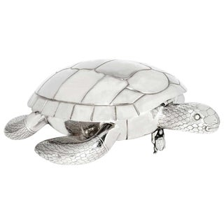 Modern Silver Plated Tortoise-Form Serving Platter For Sale