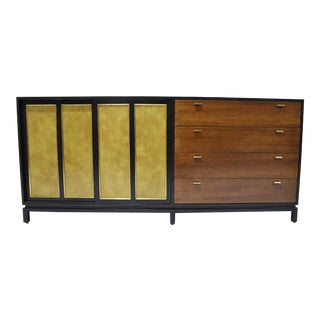 Harvey Probber Signed Sideboard in Mahogany With Gold Trim, 1960s For Sale
