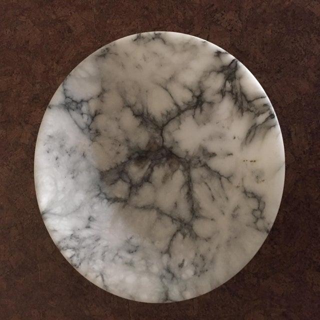 Vintage Marble Pedestal Bowl For Sale - Image 4 of 4