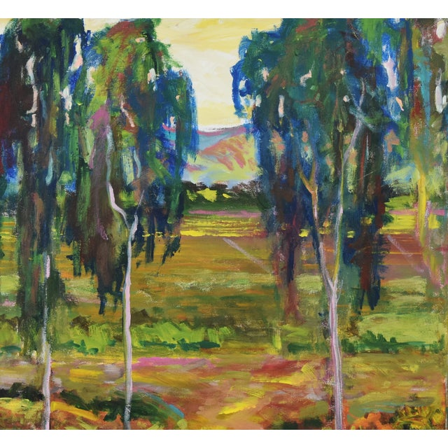 Juan Guzman Plein Air Santa Barbara Eucalyptus Grove Painting For Sale In Los Angeles - Image 6 of 10