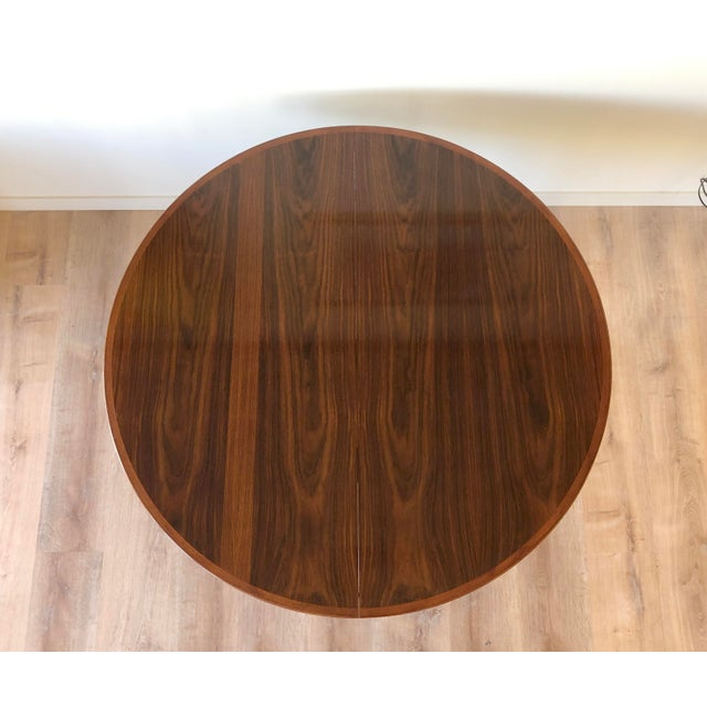 Gudme Mobelfabric Danish MCM Rosewood Dining Table With 2 Leaves For Sale - Image 10 of 13