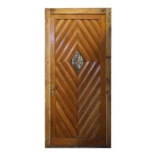 Early 20th Century Optic Diamond Pattern Door, Circa 1920 For Sale