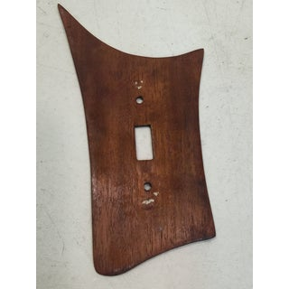 Modernist Wood Light Switch Plate Preview