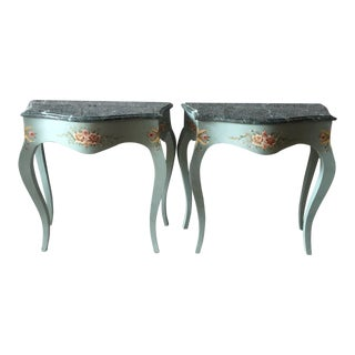 1930s French Louis XVI Side/Corner Tables/ Night Stands - a Pair For Sale