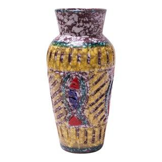 """Mid-Century Italian Textured Studio Ceramic """"Fish"""" Vase For Sale"""