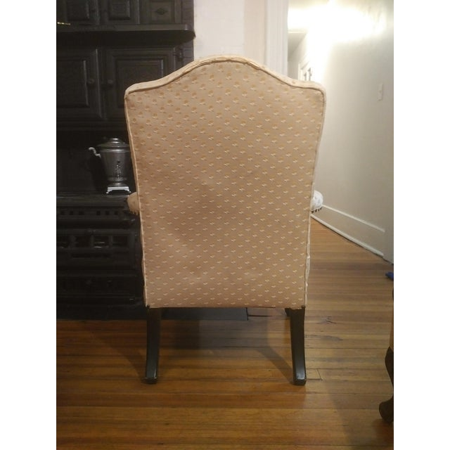 Baker Furniture Company 1940s Americana Baker Furniture Light Pink Wingback Armchair For Sale - Image 4 of 12