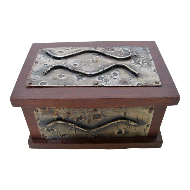 Hand-Crafted Wood & Metal Box - Image 1 of 6