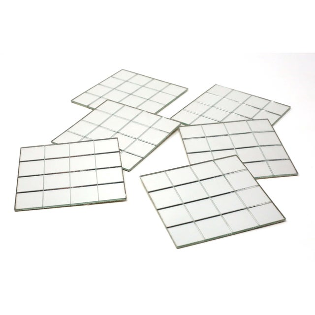 Vintage Mirror Mat Beverage Coasters - Set of 6 - 4 Available For Sale - Image 9 of 9