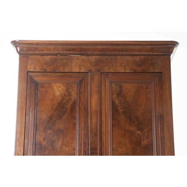 French 19th Century Walnut Louis Philippe Armoire - Image 5 of 10