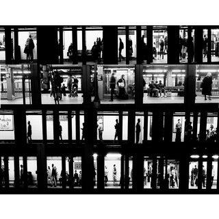"""Subway Voyeur"" New York City Black & White Photograph For Sale"