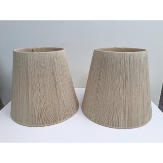 Set of Two Audoux Minet Style Rope Large Lamp Shades, 1960s Preview