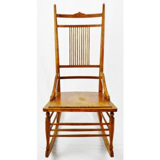 Antique Wood Spindle Back Rocking Chair Preview