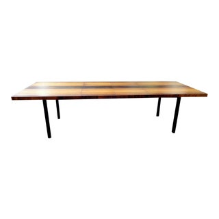 Milo Baughman for Directional Mixed Wood Dining Table For Sale