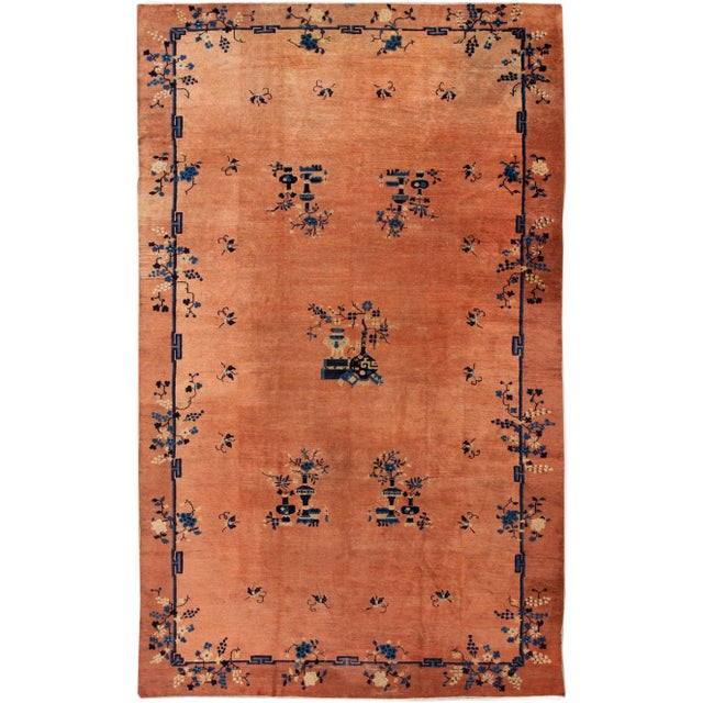 Early 20th Century Antique Art Deco Chinese Wool Rug 9 X 15 For Sale - Image 13 of 13