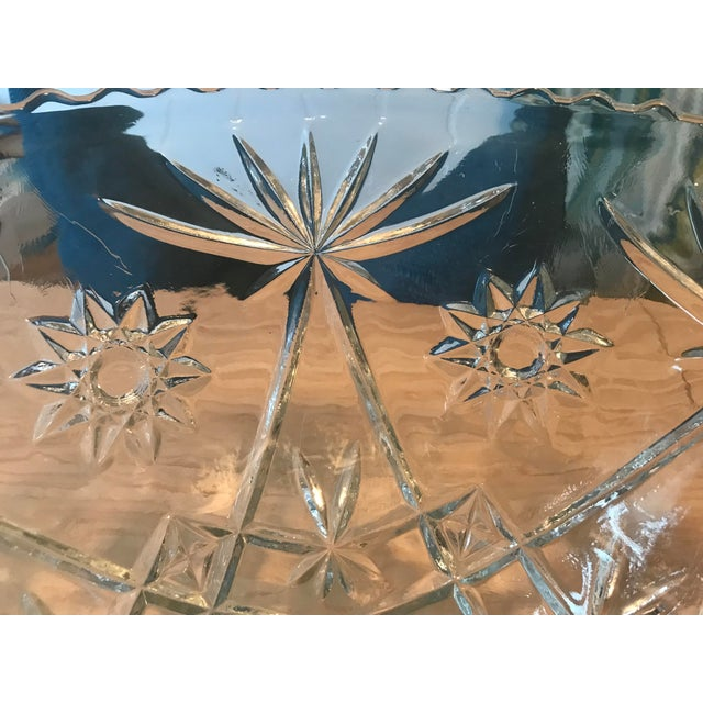 Anchor Hocking Star of David Punch Bowl Set For Sale - Image 5 of 10
