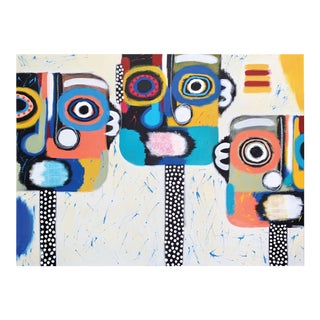 """""""Heads Above Water"""" Contemporary Abstract Figurative Acrylic Painting by Alli Conrad For Sale"""