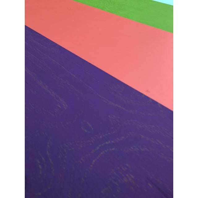 Abstract Acrylic Painting on Wood Titled: 'Quattro' For Sale - Image 3 of 7
