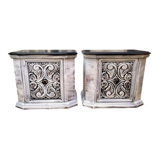 1970s Vintage Farmhouse Nightstands-a Pair For Sale