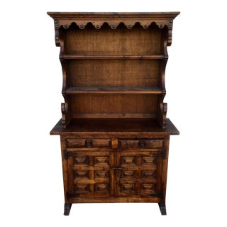 Vintage Spanish Style Wood Hutch