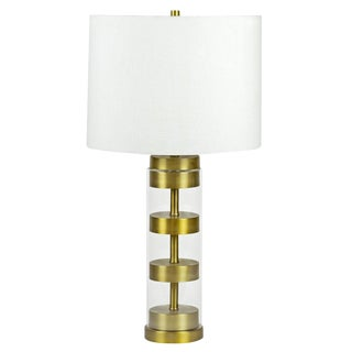 Industrial Franklin Stacked Brass Disc Lamp