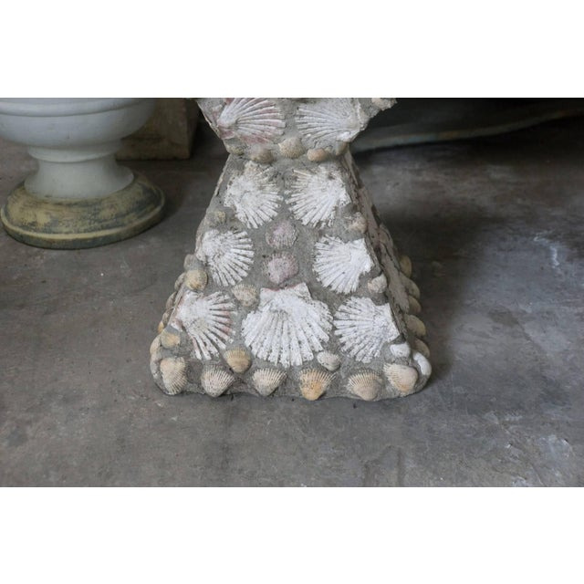 Mid-20th Century French Cement Planters With Embedded Shells For Sale - Image 4 of 7