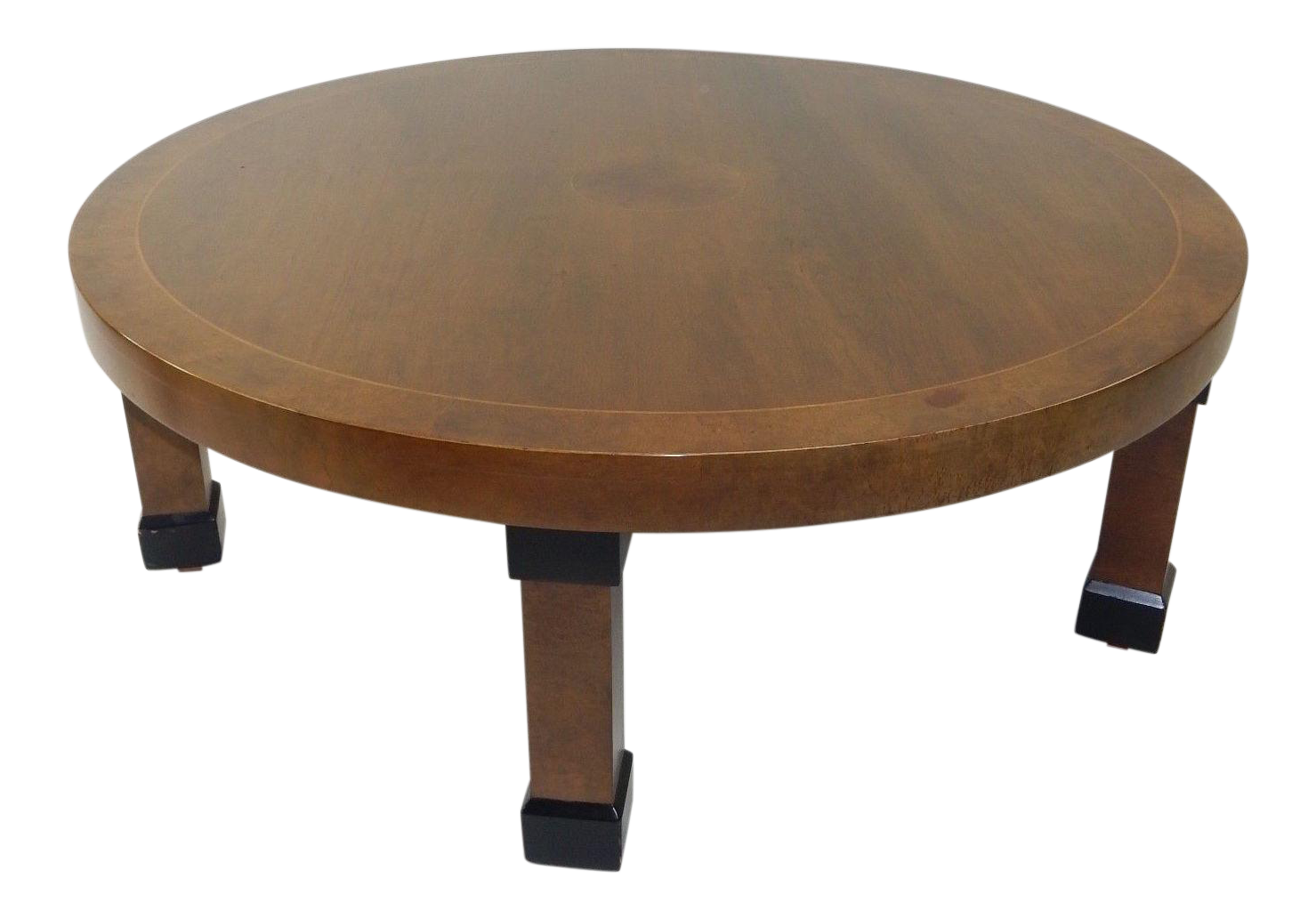 Baker Furniture Co. Walnut Banded Coffee Table