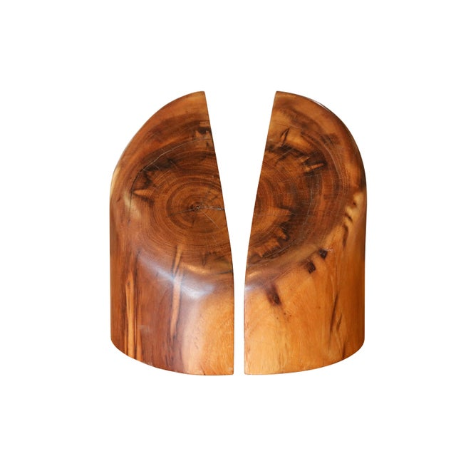 Sculptural Wood Block Bookends, a Pair For Sale In New York - Image 6 of 6