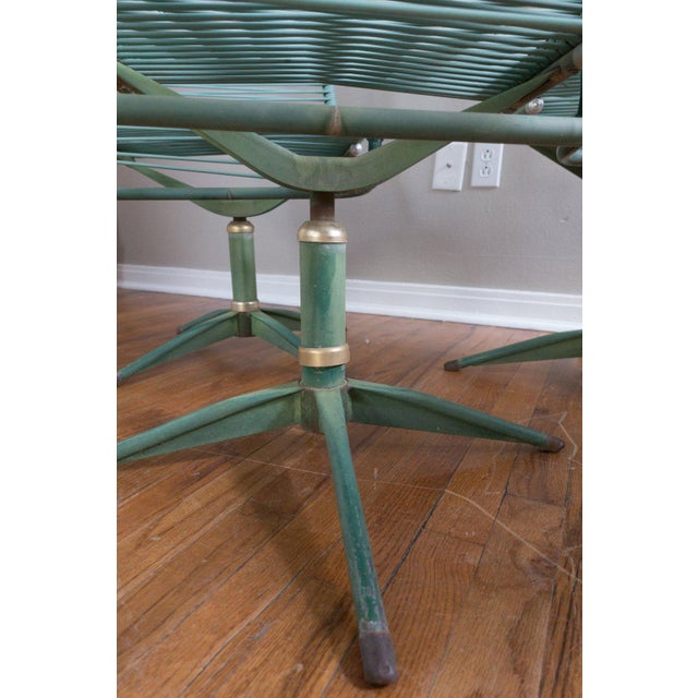 1950s Vintage Ames Aire Cabana Star Line Green Patio Chairs- Set of 4 For Sale - Image 9 of 11