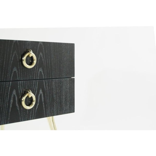 Gold Gibby Collection End Tables in Limed Oak For Sale - Image 8 of 13