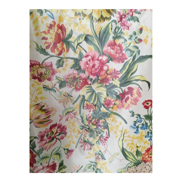 Silk Floral Taffeta Fabric - 1.5+ Yards - Image 1 of 5