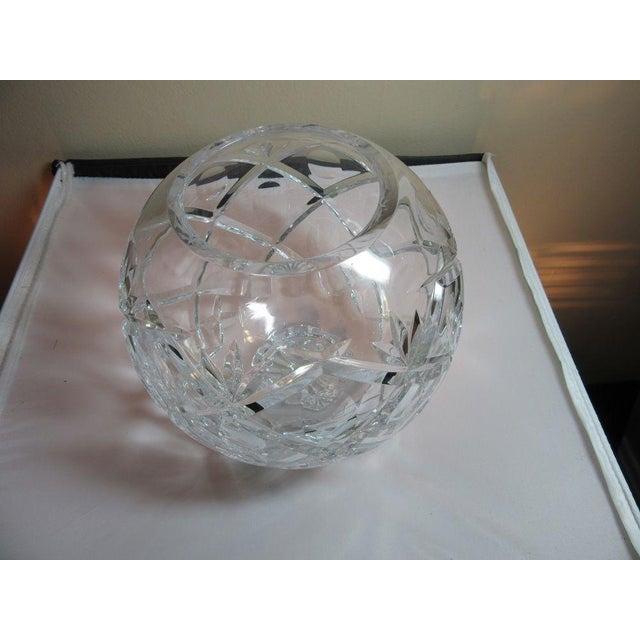 Clear Cut Crystal Rose Bowl Vase - Image 7 of 10