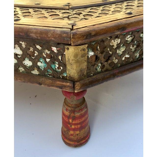 Anglo Raj Moorish Design Octagonal Low Coffee Table For Sale - Image 10 of 12