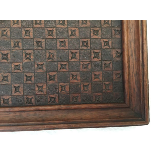 Vintage French Carved Wood Tray For Sale - Image 4 of 7