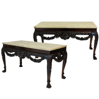 Pair of William Kent Style Consoles in Mahogany